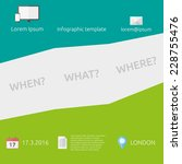 green vector infographic... | Shutterstock .eps vector #228755476