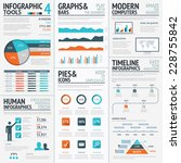 financial infographics and... | Shutterstock .eps vector #228755842