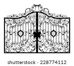 forged gate. architecture... | Shutterstock .eps vector #228774112