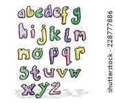 cartoon alphabet   Shutterstock .eps vector #228777886