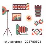 vector illustration icon set of ...   Shutterstock .eps vector #228780526