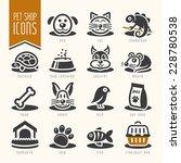Stock vector pet vet pet shop icon set 228780538