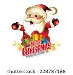 merry christmas logo... | Shutterstock .eps vector #228787168