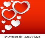 red and white hearts on red... | Shutterstock .eps vector #228794326