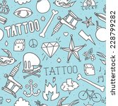 """doodle tattoo"" seamless vector ...   Shutterstock .eps vector #228799282"