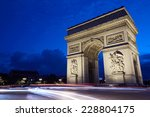 arc de triomphe in paris at... | Shutterstock . vector #228804175