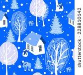 blue winter landscape seamless... | Shutterstock .eps vector #228810142
