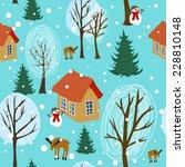 winter landscape seamless... | Shutterstock .eps vector #228810148