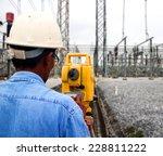 surveyor engineer on the... | Shutterstock . vector #228811222