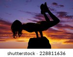 a silhouette of  woman doing a... | Shutterstock . vector #228811636