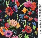 pattern  watercolor  flora | Shutterstock .eps vector #228813388