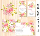 wedding invitation cards with... | Shutterstock .eps vector #228814012