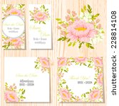 wedding invitation cards with... | Shutterstock .eps vector #228814108