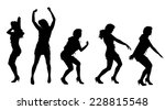 vector silhouette of a woman... | Shutterstock .eps vector #228815548