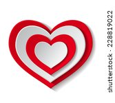 paper red heart isolated on...   Shutterstock .eps vector #228819022