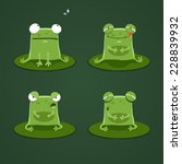 funny frogs set two | Shutterstock .eps vector #228839932