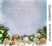 christmas greeting background   Shutterstock . vector #228845902