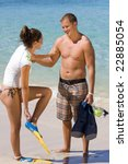 A Couple Gets Ready To Snorkle...