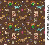 seamless pattern with toys | Shutterstock .eps vector #228853108