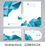 corporate identity template... | Shutterstock .eps vector #228856126