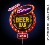 neon sign. beer bar | Shutterstock .eps vector #228859816