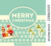 merry christmas greeting card   ... | Shutterstock .eps vector #228863335