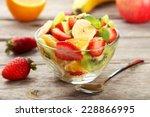 Fresh Fruit Salad In Bowl On...