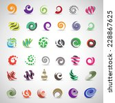 unusual spiral set   isolated... | Shutterstock .eps vector #228867625