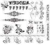 calligraphic decorative... | Shutterstock .eps vector #228871426