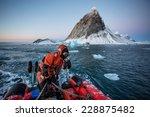 pontoon cruise in the arctic... | Shutterstock . vector #228875482