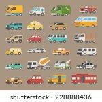 set of car icon   eps10 vector... | Shutterstock .eps vector #228888436
