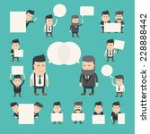 set of businessman in... | Shutterstock .eps vector #228888442