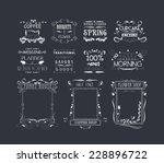 vintage frames  scroll elements ... | Shutterstock .eps vector #228896722