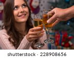 two glasses of champagne in... | Shutterstock . vector #228908656
