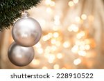 christmas ornaments with... | Shutterstock . vector #228910522