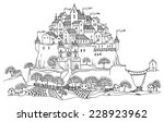 cartoon castle | Shutterstock .eps vector #228923962