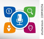 microphone multimedia signs and ... | Shutterstock .eps vector #228930256