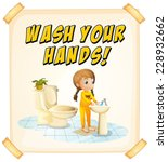 Wash You Hands Poster With Child