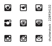 hipster photo icons set. camera ... | Shutterstock .eps vector #228934132