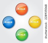 sale colorful vector icon design | Shutterstock .eps vector #228935068