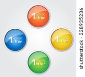 1 week offer colorful vector... | Shutterstock .eps vector #228935236