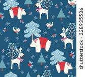 winter forest   christmas... | Shutterstock .eps vector #228935536