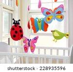 baby mobile   kids toys | Shutterstock . vector #228935596