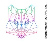 polygonal abstract wolf... | Shutterstock .eps vector #228943426