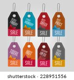 set of sale tags. vector... | Shutterstock .eps vector #228951556