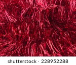 Festive Background  Red Tinsel...