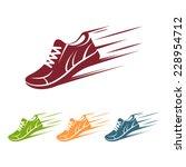 Speeding Running Shoe Icons In...