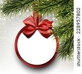 christmas paper card. winter... | Shutterstock .eps vector #228957802