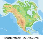 high detailed north america... | Shutterstock .eps vector #228959398