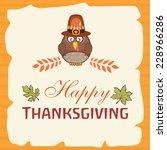 thanksgiving greeting card... | Shutterstock .eps vector #228966286